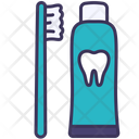 Toothbrush Toothpaste Teeth Icon