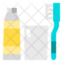 Toothbrush Toothpaste Cleaning Icon