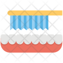 Teeth Cleaning Toothbrush Icon