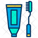Toothbrush Tooth Care Paste Icon