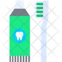 Toothpaste And Brush Toothpaste Toothbrush Icon