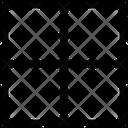 Top Border Interface Essentials Table Regular F Icon