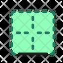 Top Border Cell Icon