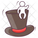 Top Hat Magician Hat Magic Headgear Icon