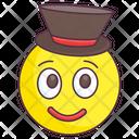 Top Hat Emoji Top Hat Expression Emotag Icon