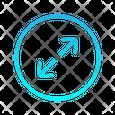 Top Right Expanding Zigzag Top Right Arrow Arrows Icon