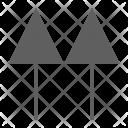 Top Arrow Symbol Icon