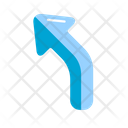 Top Turn Left Icon