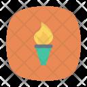 Torch Flashlight Fire Icon