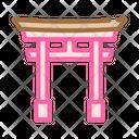 Torii Gate Color Icon