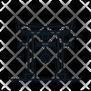 Line X Torii Gate Icon