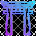 Torii Gate Landmark Japanese Shinto Shrine Japan Icon