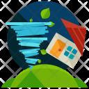 Tornado Disaster Home Icon