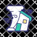 Tornado Destroys House Icon