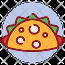 Shawarma Pita Sandwich Tortilla Roll Icon