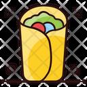 Tortilla Sandwich Tacos Mexican Dish Icon