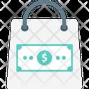 Tote Bag Cash Dollar Icon