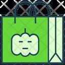 Halloween Shopper Bag Tote Bag Icon