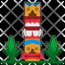 Totem Pole Tiki Icon