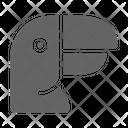 Toucan Beak Parrot Icon