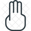 Touch Hand Gesture Icon