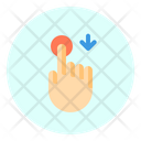 Touch Down Finger Icon