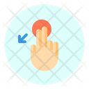 Touch Slant Down Icon