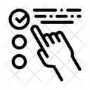 Hand Touch Check Icon