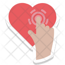 Touch Heart Loving Icon