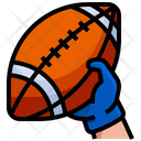 American Football Filled Outline Icon Linear Outline Graphic Illustration Icon