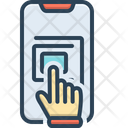 Touchscreen Hand Technology Icon