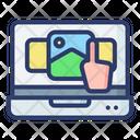 Touchscreen Media Image Icon