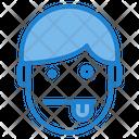 Tounge Emotion Face Dazed Icon