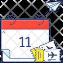 Calendar Reminder Tour Date Icon