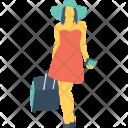 Tourist Passenger Traveller Icon