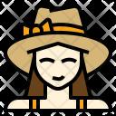 Tourist Woman Holiday Icon