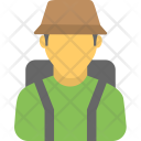 Hiker Tourist Visitor Icon