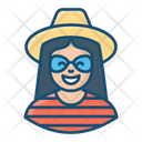 Tourist Traveller Visitor Icon