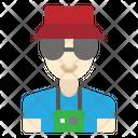 Tourist Man Avatar Icon