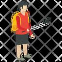Tourist Visitor Social Person Icon