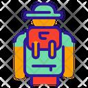 Tourist Traveler Travel Icon