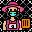 Tourist Travel Occupation Icon
