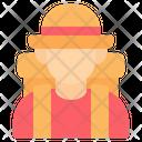 Tourist Traveler Backpacker Icon