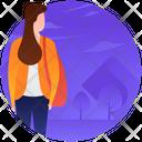 Tourist Traveller Female Tourist Icon