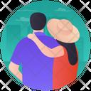 Tourist Couple Traveling Couple Honeymoon Icon