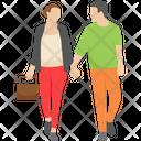 Tourist Couple Couple Travelling Couple Icon