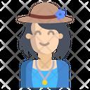 Tourist Girl Icon
