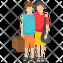 Tourists Tourist Couple Honeymoon Icon