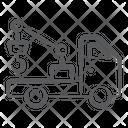 Crane Truck Crane Vehicle Hydraulic Crane Icon