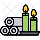 Towel Candle Beauty Icon
